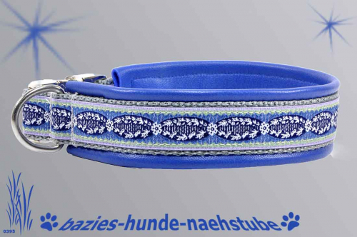 "Halsband ""French Medaillon blau"""