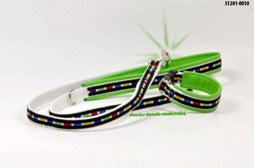 "Set > Halsband + Leine Design ""Multicolour"""